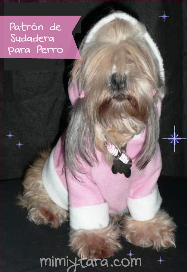 Patrón de suéter con capucha para perro | Mimi y Tara
