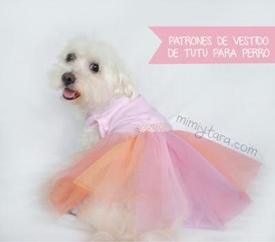 Patrón de vestido tutu para perro   Mimi y Tara